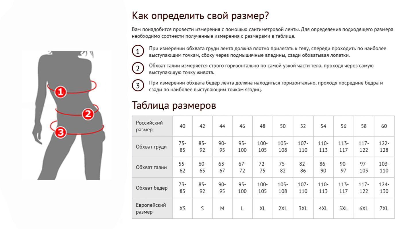 Размеры Костюма Интернет Магазин
